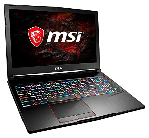 MSI GE63 7RD-006DE Raider (39,6 cm/15,6 Zoll/120Hz) Gaming-Laptop (Intel Core i7-7700HQ, 16GB RAM, 256 GB SSD + 1 TB HDD, Nvidia GeForce GTX 1050Ti, Windows 10 Home) schwarz GE63