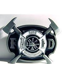 Fire Department Buckle, US- Feuerwehr Logo, Firefighter - Gürtelschnalle