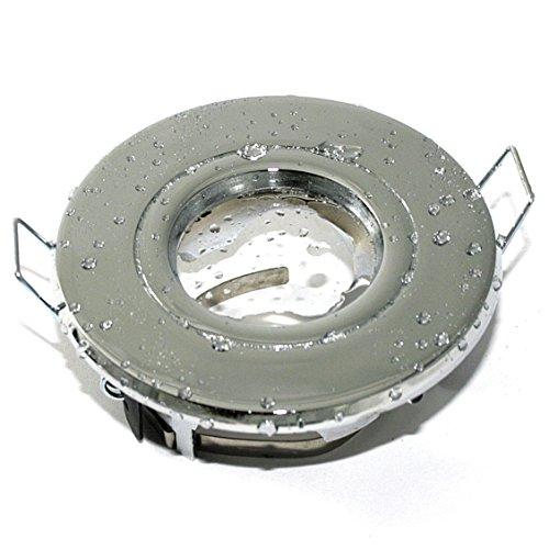 12V Aqua LED Feuchtraum Einbaustrahler in chrom, IP65, NIEDERVOLT 12Volt MR16 / GU5.3, inkl. 5W LED in tageslichtweiss - 2