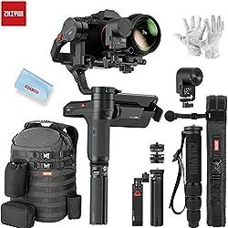 Zhiyun WEEBILL Lab Master Pack stabilisateur 3 Axes pour Appareil Photo Reflex numérique Sony Canon Nikon DSLR SLR Charge utile 3 kg Structure Polyvalente Système de contrôle ViaTouch Design loquet