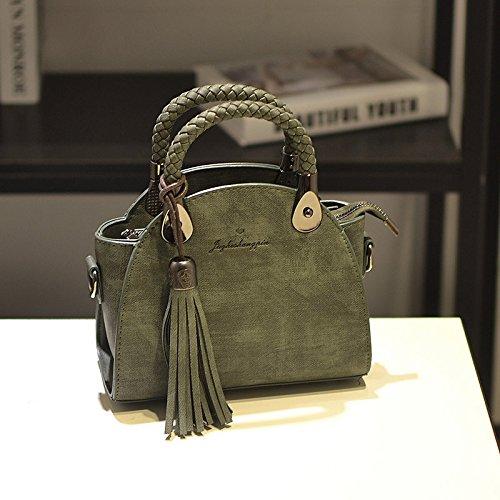 TSLX-Schultertaschen Umhängetaschen Diagonale Single Schultertasche Handtasche green