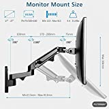 PUTORSEN® 17-27 Monitor Wall Mount TV Wall Bracket with Adjustable Gas Spring Full Motion LED LCD Moniter Arm (Black)