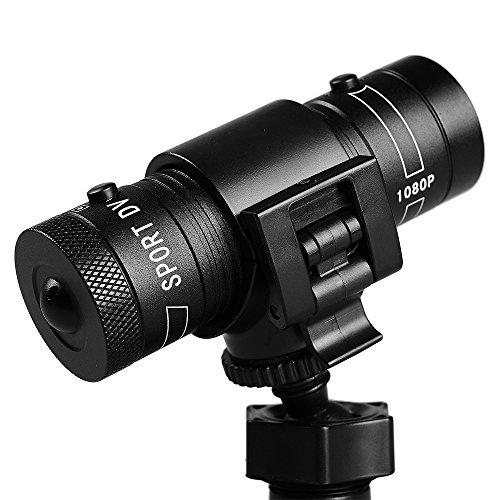 Yikoo Mini-Action-Kamera für Sport wie Klettern, Skifahren, Reiten usw., Full HD, 1080P, wasserdicht, DVR, kann an Fahrrad- und Motorradhelm befestigt werden, AVI-Videos, TF-Karte 32GB