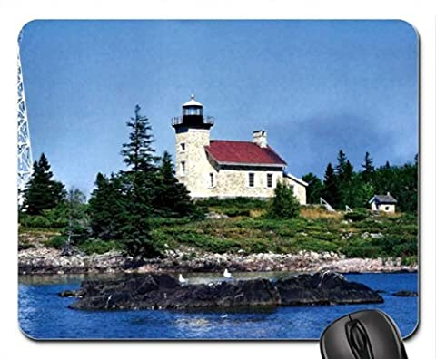 Copper Harbor Lighthouse 2 Mouse Pad, Mousepad (Lighthouses Mouse Pad)