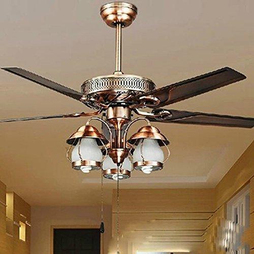 SAEJJ-Ventilatori a soffitto lampada stile europeo Ferro da stiro, ventilatore