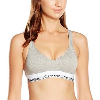 Calvin Klein 000QF1654E, Reggiseno Sportivo Donna, Grigio (Grey Heather 020), XS