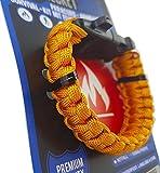 Paracord Armband mit Feuerstarter & Notfall Pfeife - Survival-Kit