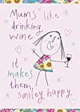 Home & Dry 100% Cotton Tea Towel - Mums like Wine by Two Up Two Down