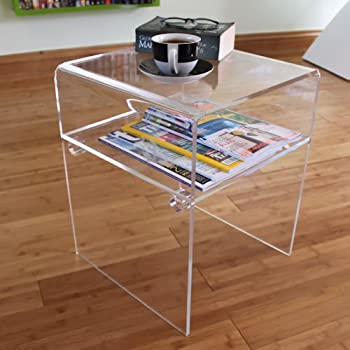 Delicieux Side End Table Clear Acrylic Perspex Plastic