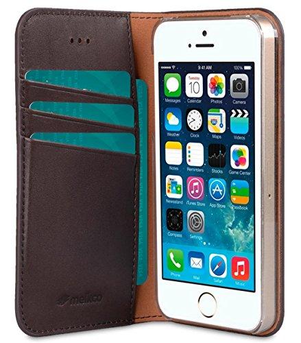 Apple Iphone 7 Plus Melkco Premium Cowhide Leather Herman Series Book Style Case mit Premium Leder Handcrafted Guter Schutz, Premium-Gefühl-Schwarz italienischer Kaffee