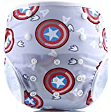 Eco Green Baby - 3 in 1 - Reusable Swim Diaper + Diaper Cover + Training Pants-Captain America