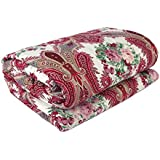 BUZZDEALFloral Print Soft And Warm Reversible Poly Cotton Single Bed Reversible Dohar/AC Comfort/Blanket (Single Bed)