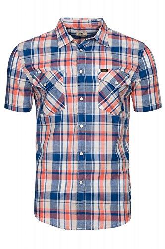 lee-occidentali-ss-camicia-blu-l641jxcm-taillem