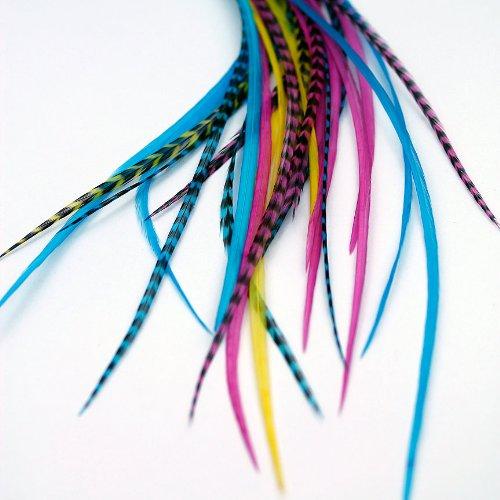 Extensions de cheveux en plumes véritables – Candy