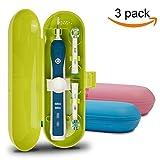 Plastique Trousse de voyage pour brosse à dents électrique Oral-B PRO Series, Lot de 3(Bleu et Rose et Vert)