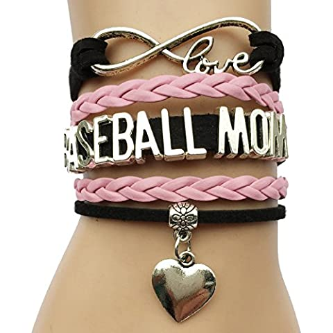 INFINITY Bracciale Charm Cuore I Love Baseball