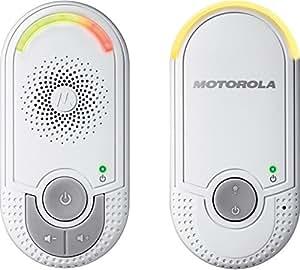 Motorola Baby MBP 8 Babyphone, Digitales Wireless Babyfon, Mit Nachtlicht und DECT-Technologie, Zur Audio-Überwachung, Weiß