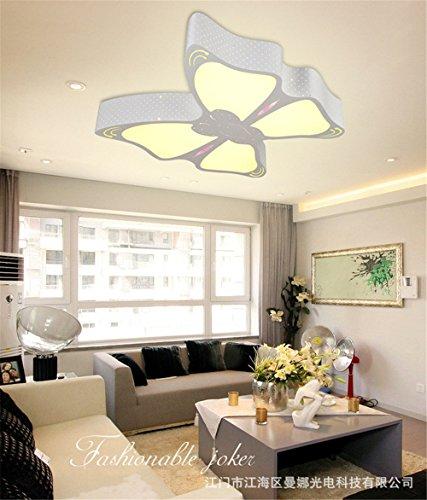 Led-Bügeleisen Deckenleuchte kreative Cartoon Schmetterling - der geformten Schlafzimmer Lampe warm romantischen Mädchen Kinderzimmer Beleuchtung 51 x 50 cm Zimmer weißes Licht