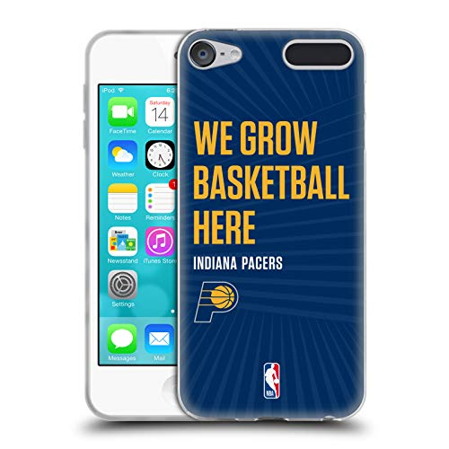 Head Case Designs Offizielle NBA Pacers We Grow Basketball Here 2018/19 Team Slogan 2 Soft Gel Hülle für Apple iPod Touch 6G 6th Gen Pac Ipod