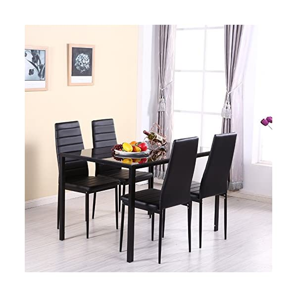 Sensational Warmiehomy Dining Table Chairs Glass Dining Table Set And 6 Beatyapartments Chair Design Images Beatyapartmentscom