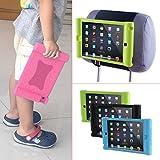 TFY Supporto iPad Air Poggiatesta Auto per Bambini – Smontabile Leggero Anti-Urti Anti-Scivolo Silicone Morbido Cover Maniglia - Rosa immagine