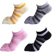 Panegy - Calcetines de 5 Dedos para Mujer Yoga de Algodón Transpirable