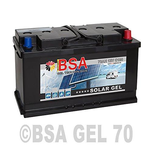 Gel Batterie 70Ah 12V Blei Gel Solarbatterie Wohnmobil Boot Versorgungsbatterie Rollstuhl (Dc Gel-boot)