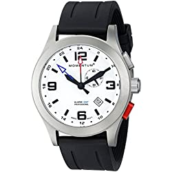 Momentum Mens Quartz Watch, Analogue Classic Display and Rubber Strap 1M-SP58L1B