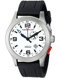 Momentum 1M-SP58L1B - Reloj de cuarzo para hombre, correa de goma color negro