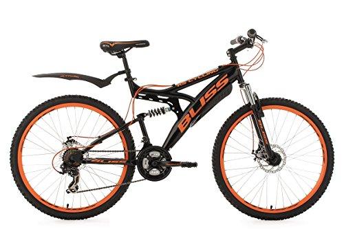 KS Cycling Fahrrad Mountainbike Fully Bliss RH 47 cm Schwarz/Orange, 26