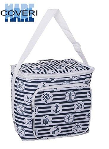 Enrico coveri borsa frigo termica, zaino per trasportare il vostro pranzo e la vostra merenda, capacità 18 litri, spessore 7mm vari colori (bianco)