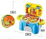 deAO-Juegos-de-imitacin-Playsets-Taburete-Maletn-2en1-con-Accesorios-Incluidos