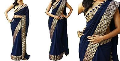 Bollywood Craze Banarasi Fabric Latest Desginer 2018 Collection Saree For Women Party Wear