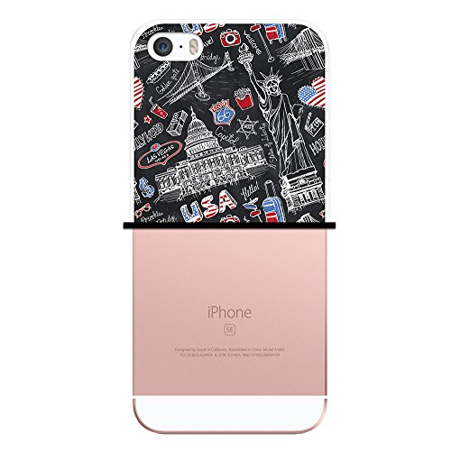 iPhone SE iPhone 5 5S Hülle, WoowCase Handyhülle Silikon für [ iPhone SE iPhone 5 5S ] Indischer Stil mit Elefanten-Muster Handytasche Handy Cover Case Schutzhülle Flexible TPU - Schwarz Housse Gel iPhone SE iPhone 5 5S Transparent D0430