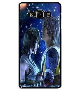 ColourCraft Cute Couple Design Back Case Cover for SAMSUNG GALAXY A7
