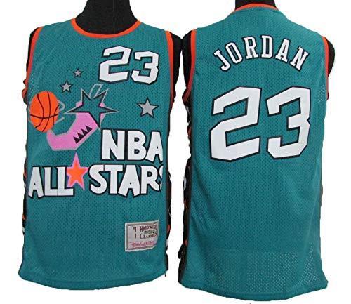 LLZYL Herren-Trikot NBA 96 Vintage All-Star-Trikot Michael Jordan, Cooles, atmungsaktives Material, kurzärmeliges Damen-Basketball-Shorts-T-Shirt,L:180cm/75~85kg