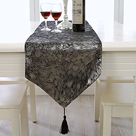 European-style Einfach Und Modische Qualität Luxus Tischläufer,Tee Tischdecke,Leichte Seide Tischdecken-D 33x180cm(13x71inch)