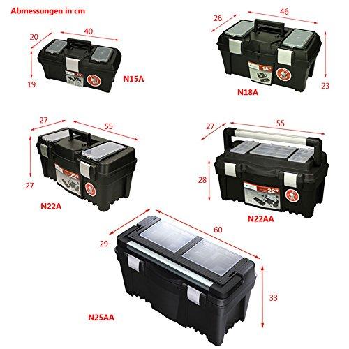 Werkzeugkoffer Werkzeugkasten Sortimentskasten Viper 46x26x23cm Werkzeugbox Angelkoffer Werkzeugkiste Werkzeugtrage Sortimentskiste Kleinteilemagazin Angelkiste Kasten Kiste Box - 3