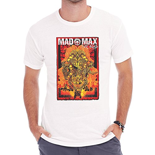 Mad Max Fury Road Colored Illustration Avater Poster Edition Real Awesome Herren T-Shirt Weiß