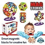 MagStories Magnetic Building Blocks 46 Pcs Ferris Wheel, Magnet Blocks Set, 3D Kids