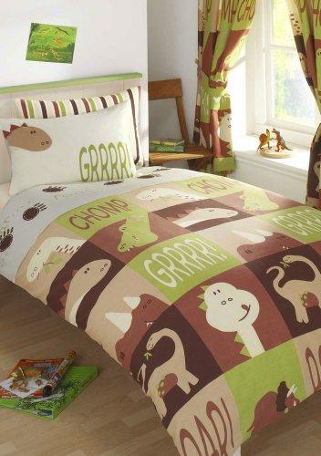 HOMEMAKER BEDDING DOUBLE BED SIZE DINOSAUR DUVET COVER SET