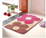 felpudos personalizados felpudo salón dormitorio cocina baño casa estera absorbente alfombra de baño ( Color : B , Tamaño : F )