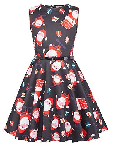 Swing Retro Abendkleid Weihnachten Kleid 6-7 Jahre KK834-1