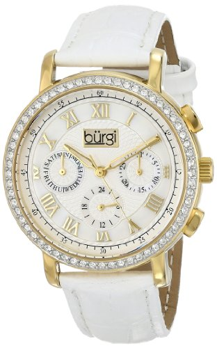 7140b55eda71 Bürgi Reloj con movimiento cuarzo suizo BUR087YGW Blanco 38 mm
