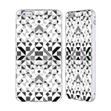 Head Case Designs Offizielle Vasare NAR Geometrisch Grau Muster 3 Silber Rahmen Hülle mit Bumper aus Aluminium für iPhone 6 Plus/iPhone 6s Plus
