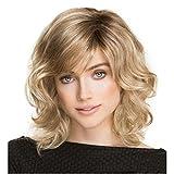 XY-QXZB Perücken Europa und die Vereinigten Staaten Mode Damen Golden Short Curls Reparatur Gesicht Perücke Top Cover