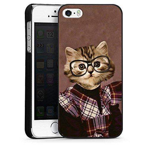Apple iPhone 4 Housse Étui Silicone Coque Protection Chat Chat Animaux CasDur noir