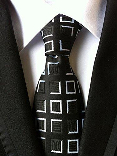 mendeng floreale bianco nero Plaid classico in tessuto jacquard Uomo