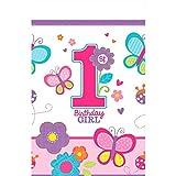 Tischdecke * 1. BIRTHDAY GIRL * für den ersten Geburtstag // Sweet Mädchen erster Kindergeburtstag Deko