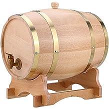 GOTOTOP Barril de Vino Vendimia de Madera Roble Dispensador para Cerveza Whisky Ron Bourbon Tequila Barril
